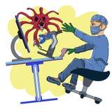 Infección peligrosa ilustración del vector