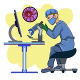 Infección peligrosa stock de ilustración