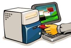 Infección del virus Imágenes de archivo libres de regalías
