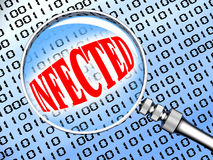 Infecté Images libres de droits