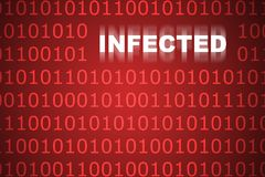 Infected Code Abstract Background Royalty Free Stock Photography