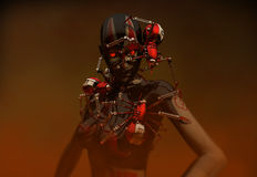 Infected Cyborg (HD) Royalty Free Stock Images