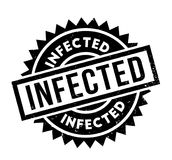 Infected rubber stamp Royalty Free Stock Photo