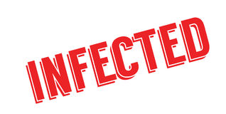 Infected rubber stamp Stock Photos
