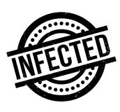 Infected rubber stamp Stock Photography