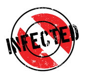 Infected rubber stamp Stock Image