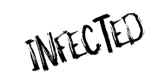 Infected rubber stamp Stock Images