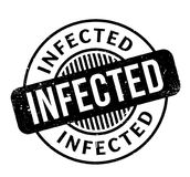 Infected rubber stamp Royalty Free Stock Images