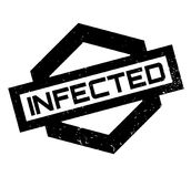 Infected rubber stamp Stock Photo