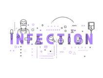 Infection de concept de médecine illustration libre de droits