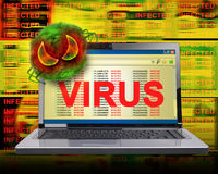 Infection de virus d'Internet d'ordinateur Images stock