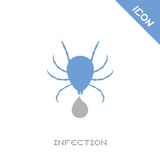 Infection icon. Creative design of infection icon Royalty Free Stock Images