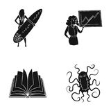 Infection, medicine, hobbies and other web icon in black style.institute, microbe, hygiene, icons in set collection. Infection, medicine, hobbies and other Stock Photos