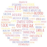 Infection outbreak. And related words. Tag cloud vector illustration Royalty Free Stock Photos