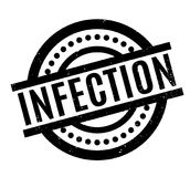 Infection rubber stamp Royalty Free Stock Image