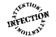 Infection typographic stamp vector illustration