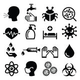 Infection, virus - health icons set Royalty Free Stock Images