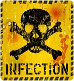 Infection warning,healthcare concept Royalty Free Stock Images