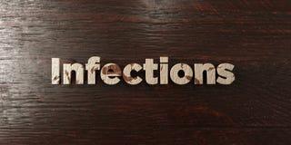 Infections - titre en bois sale sur l'érable - image courante gratuite de redevance rendue par 3D Photos stock