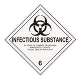 Infectious Substance Warning Label Royalty Free Stock Photo