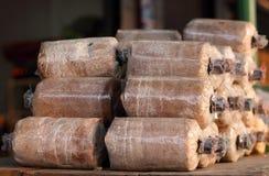 Infekterad bakgrund för champinjon Loaf arkivbild