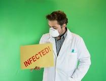Infekterad doktor Arkivbild