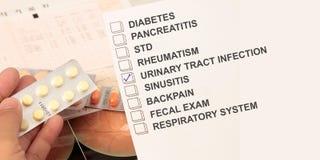 Infektion för urin- område arkivbild