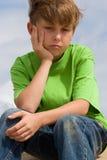 Infelicidade ou depressão Fotografia de Stock Royalty Free