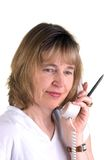 Infermiera del telefono fotografie stock libere da diritti