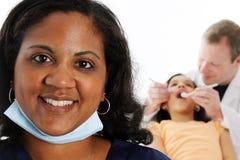 Infermiera e dentista Fotografia Stock Libera da Diritti