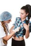 Infermiera e paziente Fotografia Stock Libera da Diritti