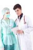Infermiera ed erba medica Fotografie Stock Libere da Diritti