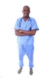 Infermiera maschio africana di Amrican Fotografie Stock Libere da Diritti