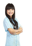 Infermiera medica sorridente Fotografia Stock