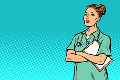 Infermiere di Pop art Medicina e salute royalty illustrazione gratis