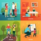 Infermiere Family Design Concept del bambino Immagini Stock