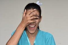 Infermiere femminile Laughing Fotografie Stock Libere da Diritti