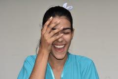 Infermiere femminile sveglio Laughing Fotografie Stock Libere da Diritti