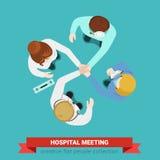 Infermiere paziente della stretta di mano dell'ospedale del gruppo di medico medico della medicina Fotografia Stock