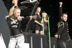 Infernal. Danish partyband Infernal, performing at Grøn Koncert 2009 Stock Image