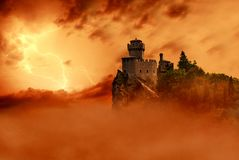 Infernal castle Stock Photos
