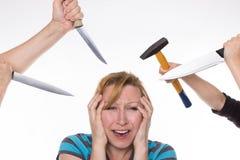 Infernal headache Stock Images