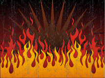 infernalisk brand Arkivbild