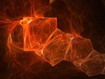Inferno. Flaming red squares against black background Stock Images