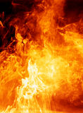 Inferno. Glowing fiery hot background Stock Photos