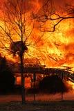 Inferno ardente Fotografie Stock