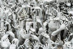 Inferno branco da arte da estátua Fotos de Stock