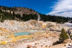 Inferno de Bumpass, vulcão de Lassen Foto de Stock Royalty Free