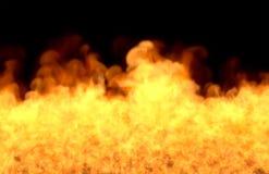 Inferno de derretimento no fundo preto, fogo da parte inferior - ilustração do fogo 3D ilustração royalty free