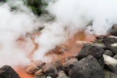 Inferno del sangue a Beppu del Giappone fotografia stock libera da diritti